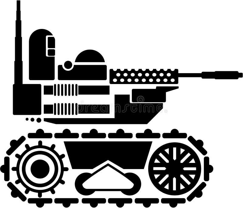 Les militaires combattent le robot télécommandé illustration de vecteur