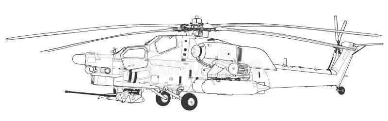 h 233 licopt 232 re militaire russe illustration de vecteur
