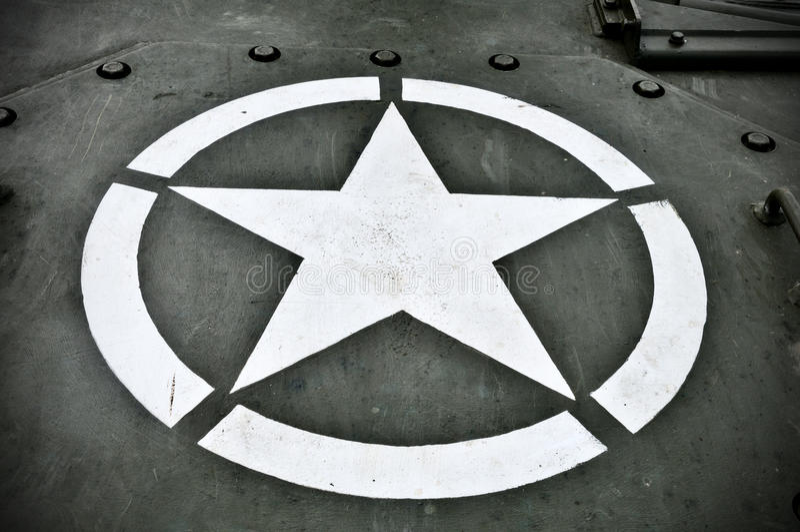 Les militaires des USA Star images libres de droits