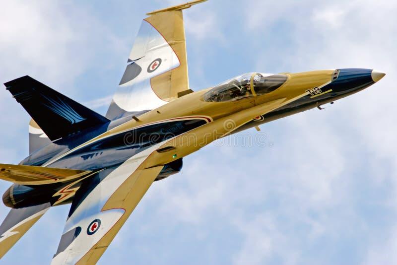Les militaires du combattant F-18 voyagent en jet photographie stock libre de droits