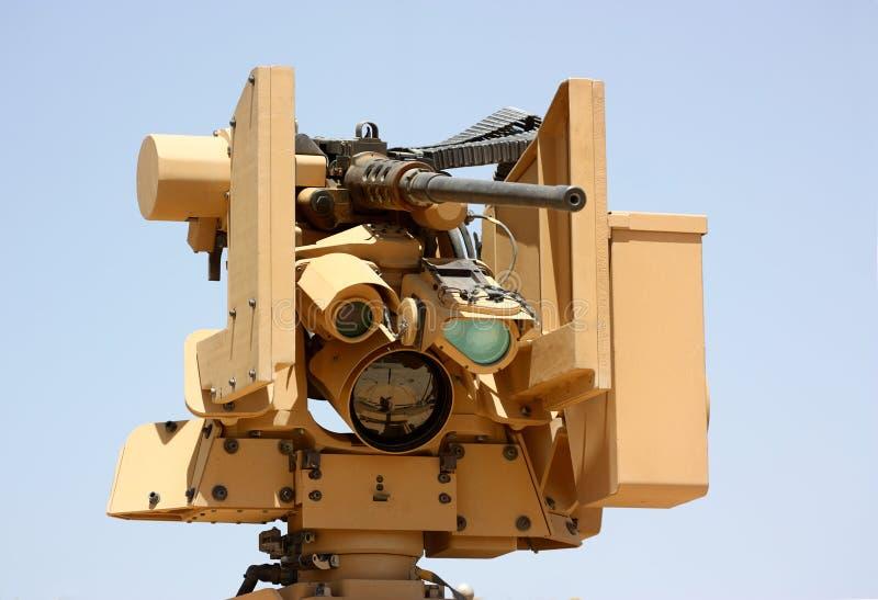 Les militaires machine-gun photo stock