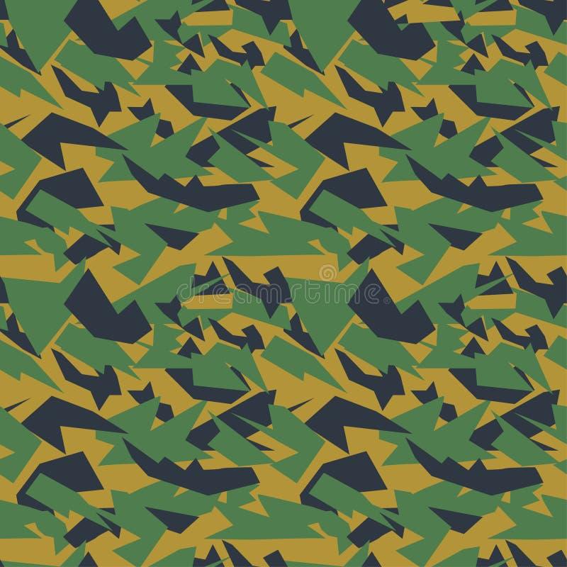 Les militaires sans couture camouflent la texture illustration de vecteur