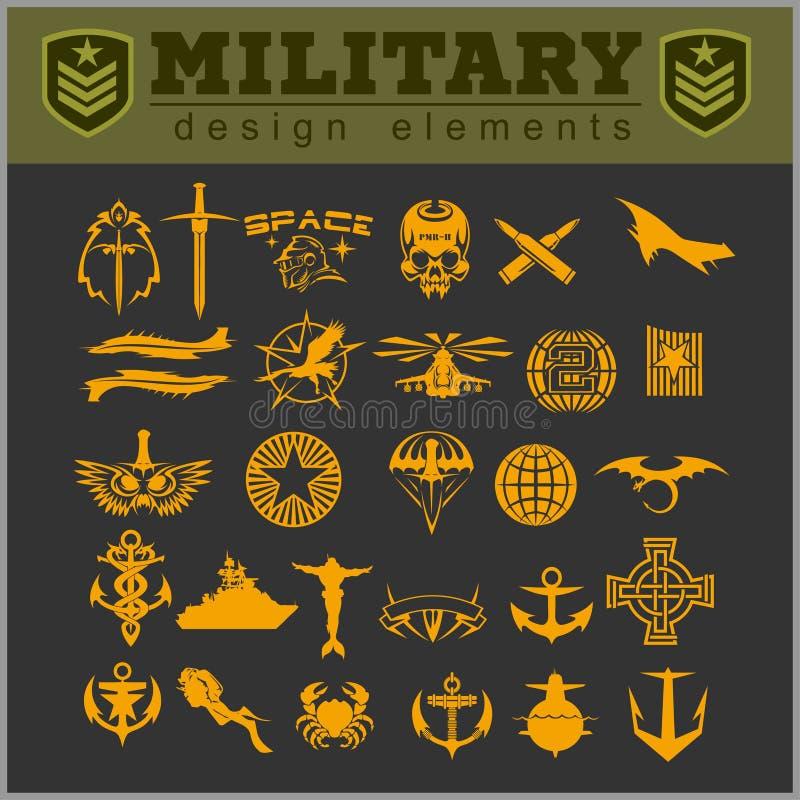 Les militaires spéciaux d'unité raccordent illustration de vecteur