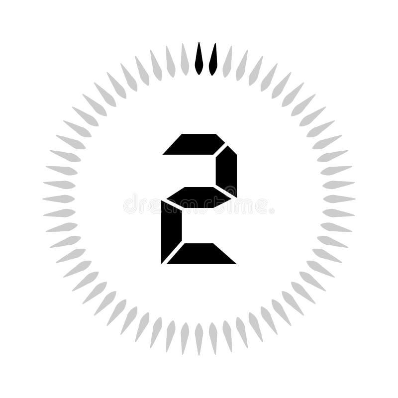 Les 2 minuteries de minutes ou de secondes illustration de vecteur