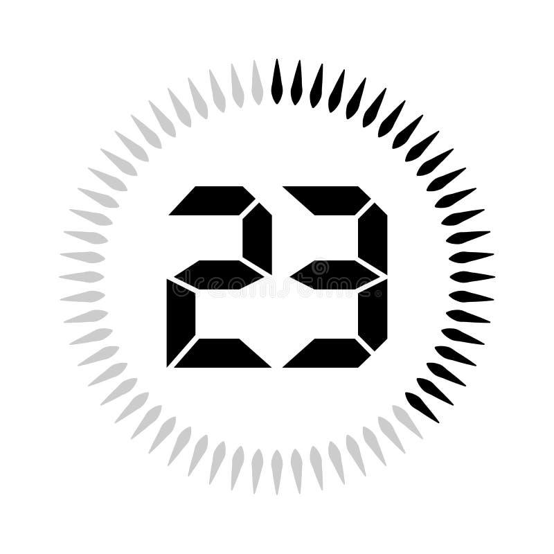 Les 23 minuteries de minutes ou de secondes illustration de vecteur