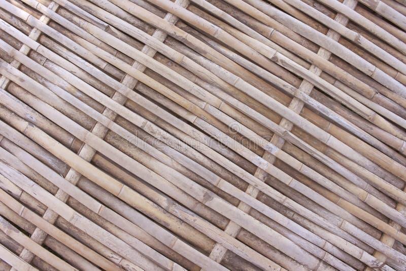 Les modèles de traditionnel thaïlandais handcraft le plancher en bambou, fond en bois naturel de texture image stock
