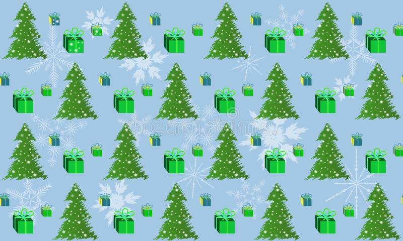 Les modèles verdissent l'arbre de Noël et une boîte de cadeau photos libres de droits