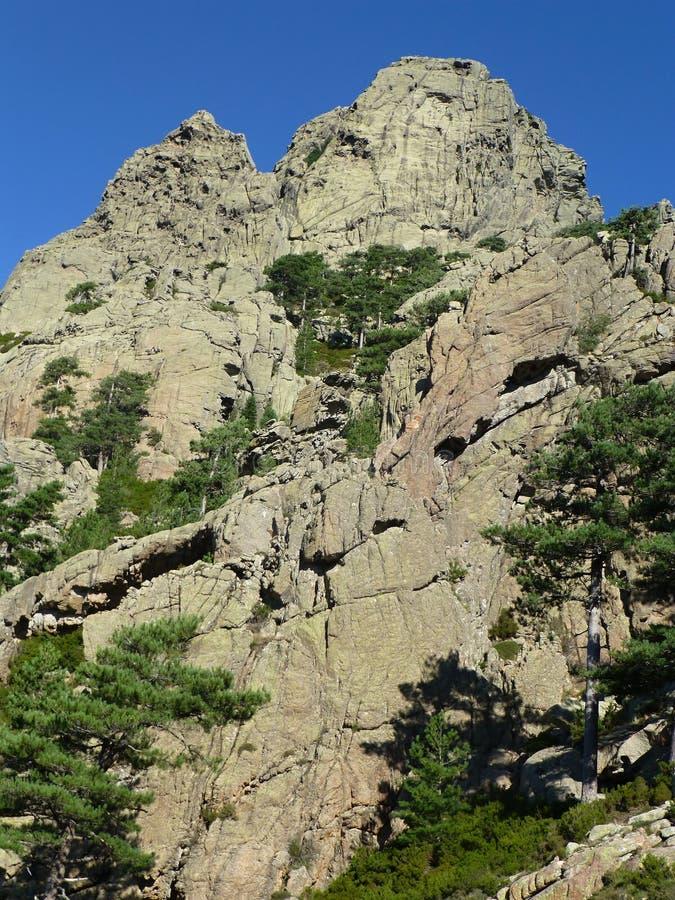 Les montagnes d'Aiguilles de Bavella image libre de droits