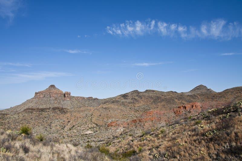 Les montagnes de Chisos dans la grande courbure image stock