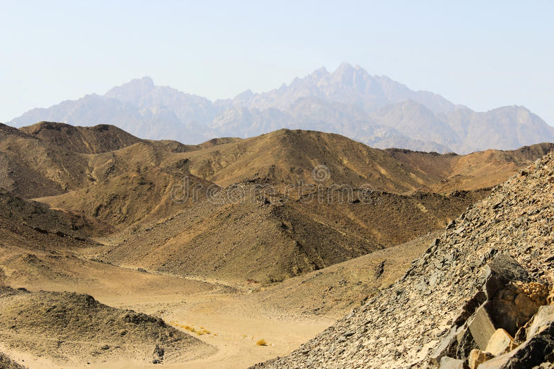 Les montagnes de la Mer Rouge photographie stock