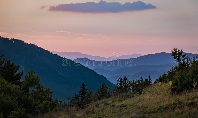 Les montagnes de Rhodope image libre de droits