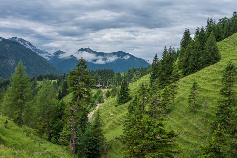 Les montagnes des Alpes en Bavière, Allemagne images libres de droits