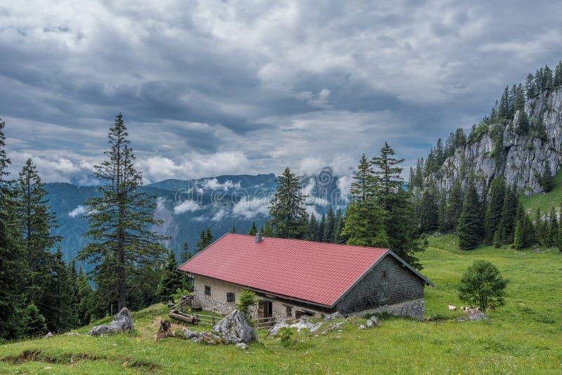 Les montagnes des Alpes en Bavière, Allemagne photographie stock libre de droits