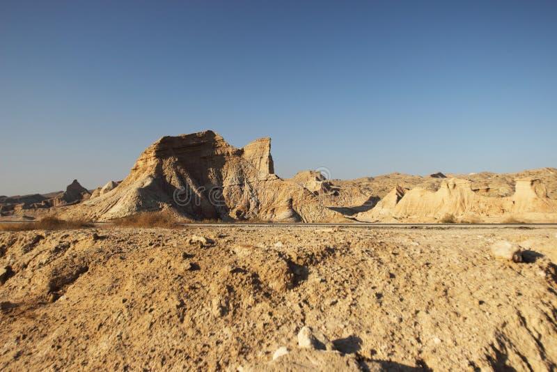 Les montagnes le long du golfe Persique en Iran photographie stock libre de droits