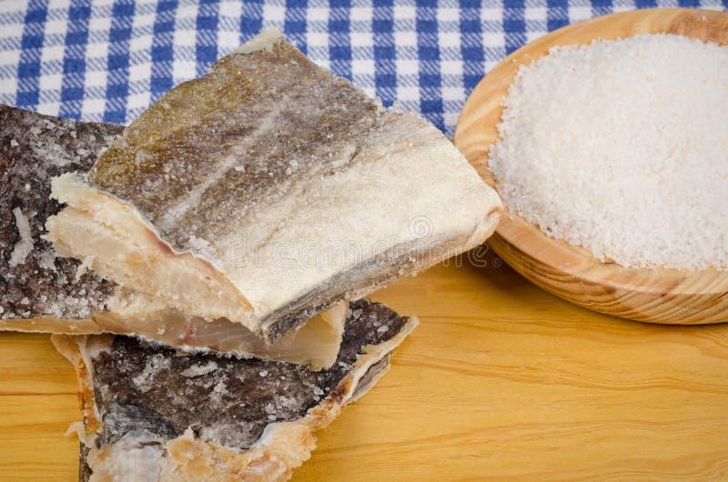 Les morceaux de sel ont préservé des poissons photos libres de droits