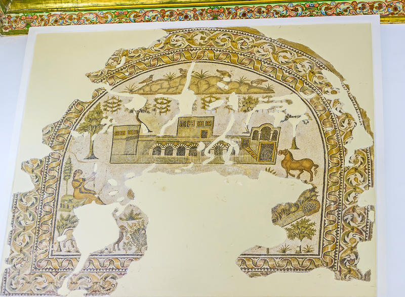 Download Les Mosaïques Reconstituées Photo éditorial - Image du antique, ruines: 77159811