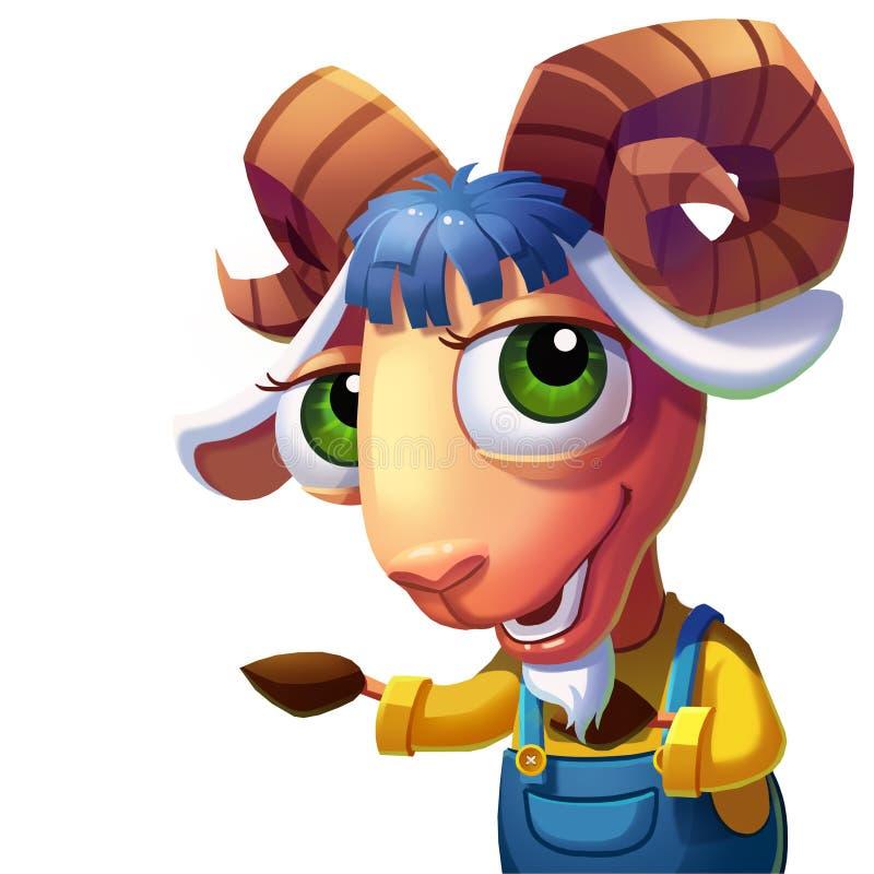 Les moutons avec l'accueil compliqué de klaxons vous ! illustration de vecteur