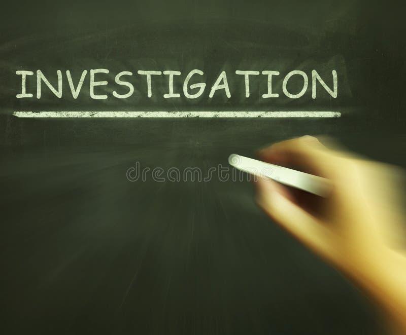 Les moyens de craie d'enquête inspectent analysent et découvrent illustration de vecteur