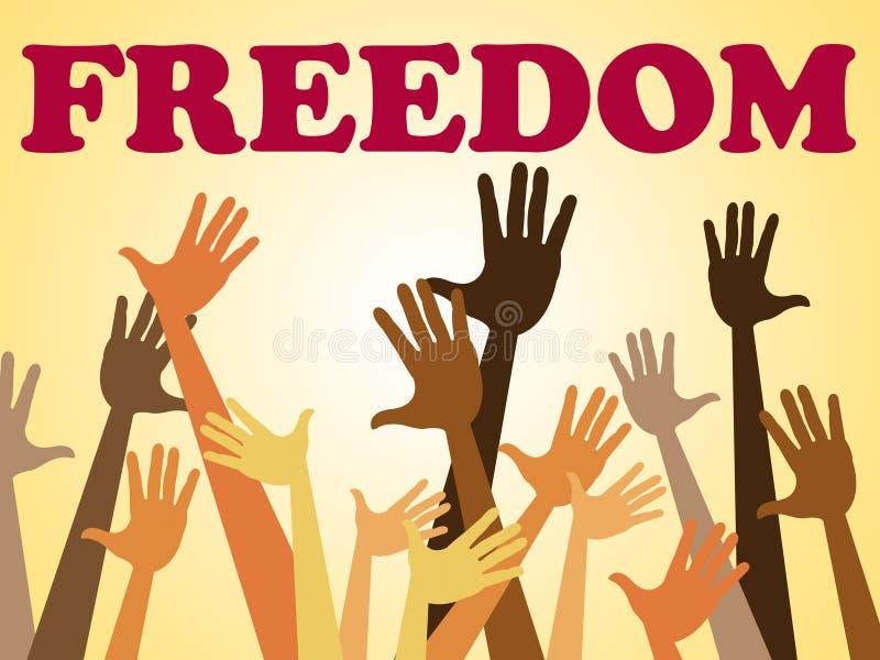 Les moyens de liberté de mains éclatent et s'échappent illustration de vecteur