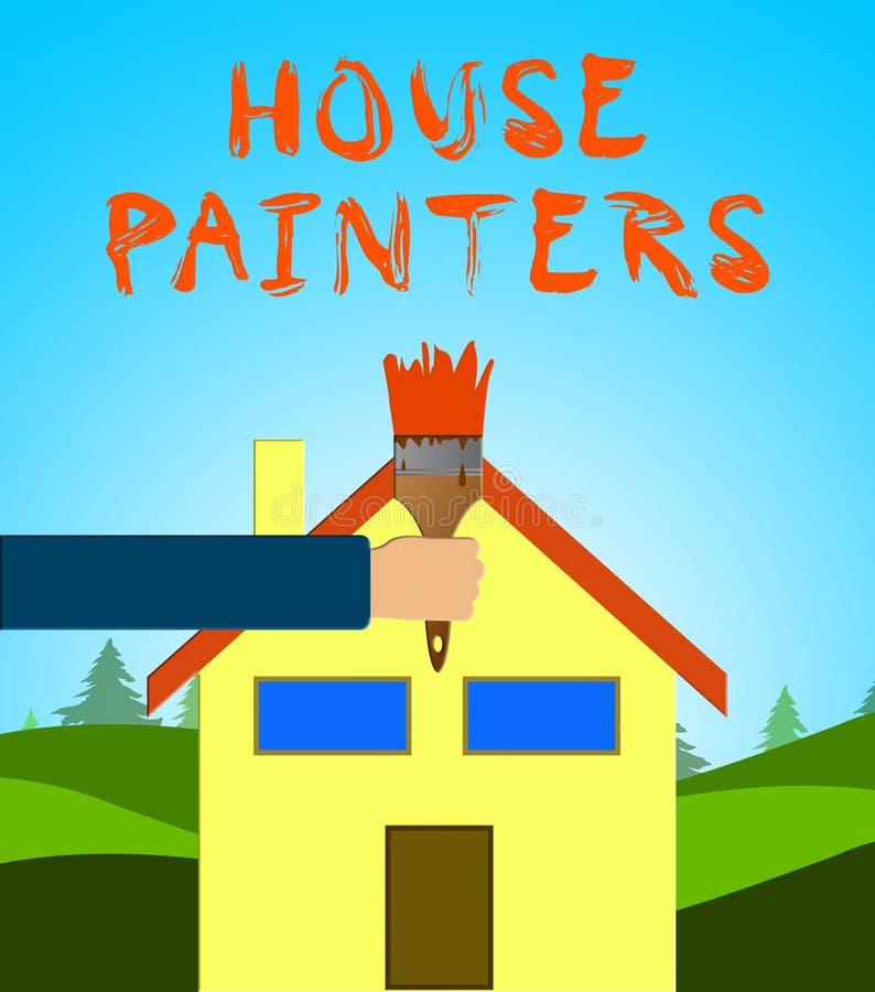 Les moyens de peintres de Chambre autoguident l'illustration 3d de peinture illustration stock