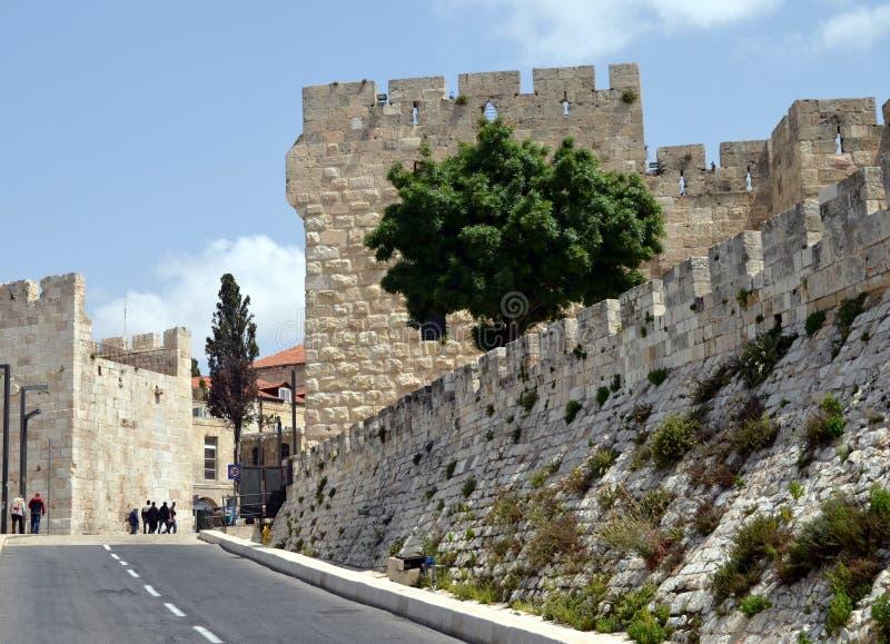 Les murs antiques de Jérusalem image stock