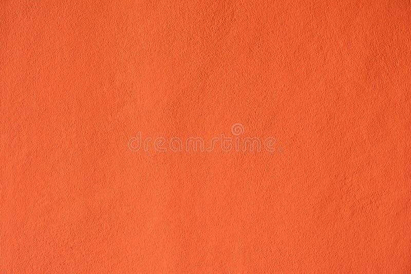 Les murs de ciment peints oranges images stock