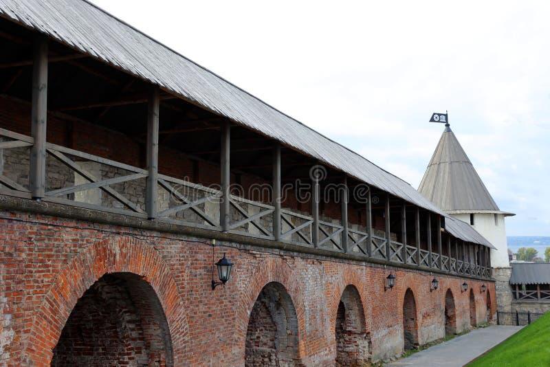 Les murs de Kazan Kremlin images stock