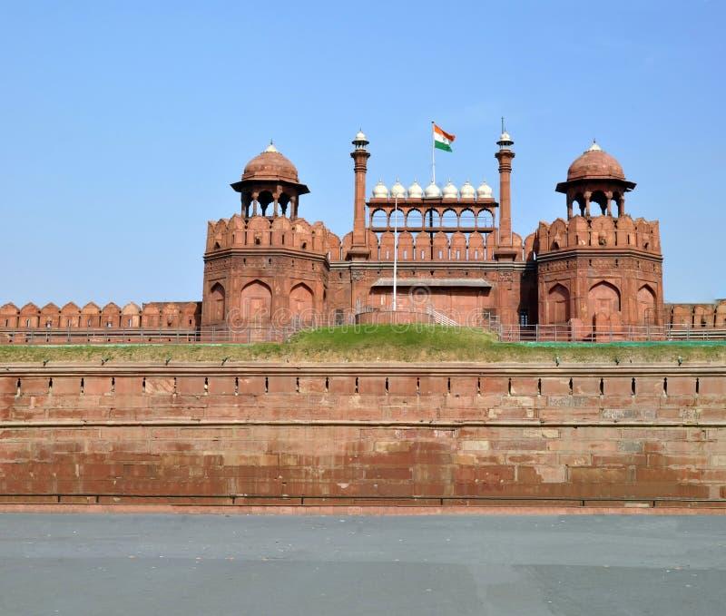 Les murs et les tours du fort rouge, Dehli, Inde photo libre de droits
