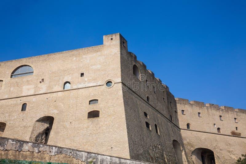 Les murs externes de Castel Sant Elmo à Naples ont construit le 1537 photo libre de droits