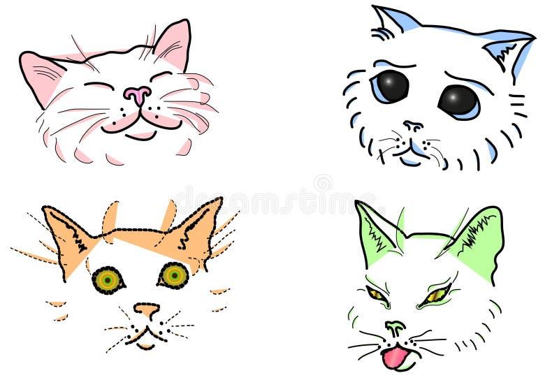 Les museaux du chat illustration stock