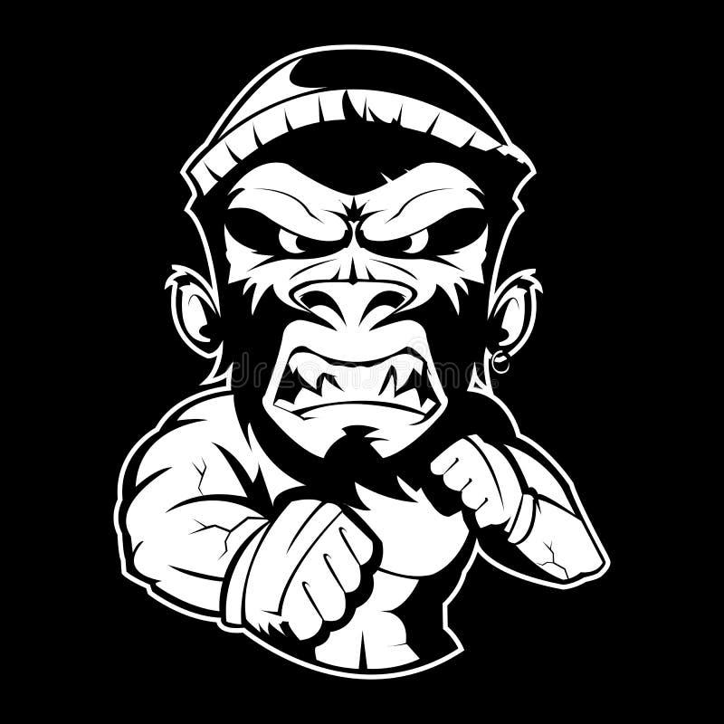Les Muttahida Majlis-e-Amal de boxe monkey le label photographie stock libre de droits