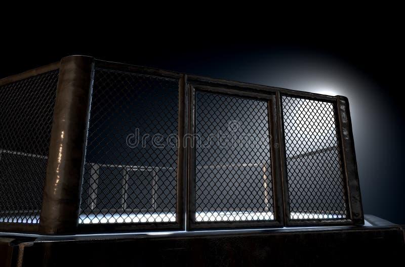 Les Muttahida Majlis-e-Amal mettent en cage la nuit illustration libre de droits