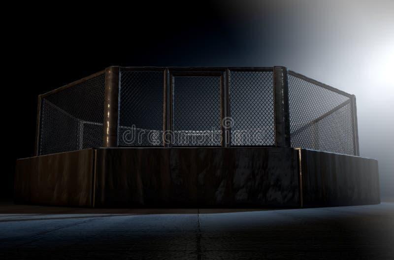 Les Muttahida Majlis-e-Amal mettent en cage la nuit illustration stock