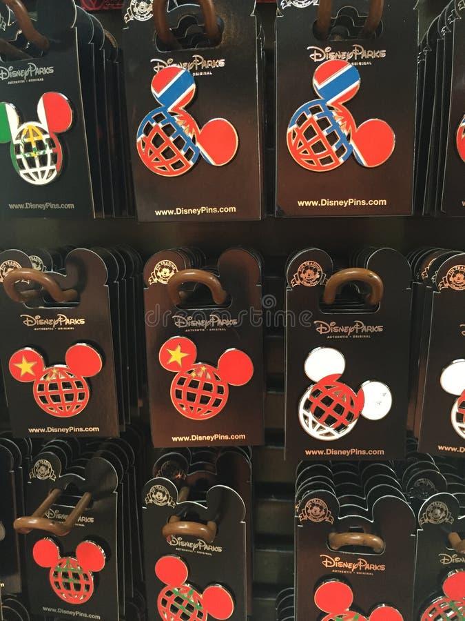 Les nations de Disney marquent des goupilles photo libre de droits