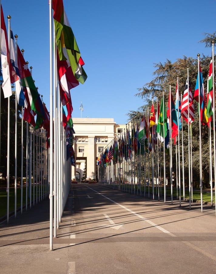 Les Nations Unies à Genève image libre de droits