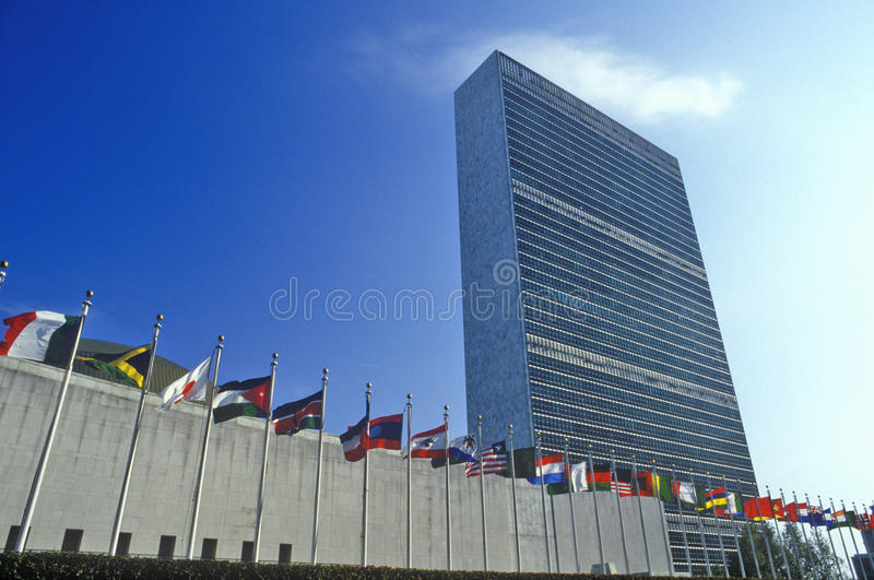 Les Nations Unies construisant, New York City, NY photos libres de droits