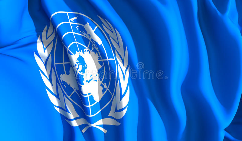 Les Nations Unies de ondulation illustration stock