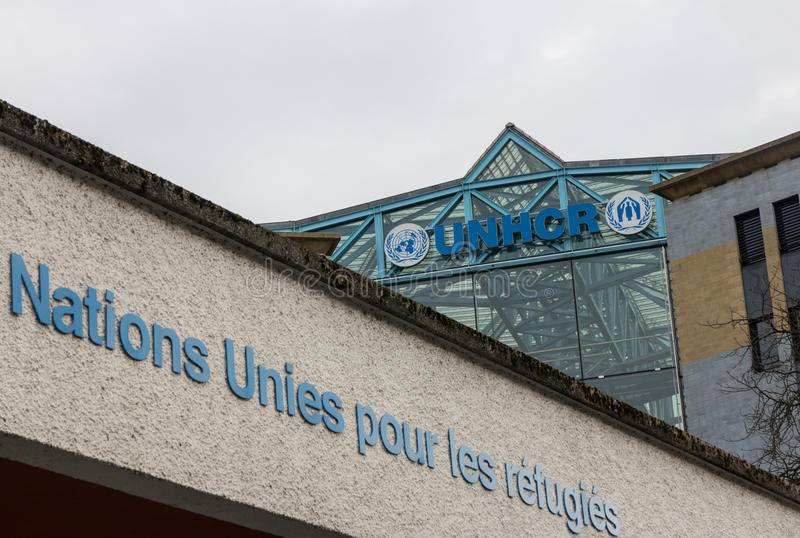 Les Nations Unies UNHCR Genève photo stock