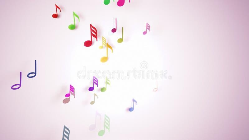 Les notes musicales avec la profondeur du champ illustration de vecteur