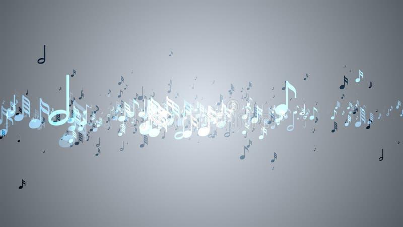 Les notes musicales avec la profondeur du champ illustration stock