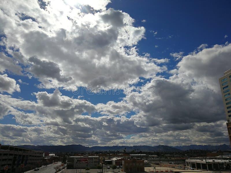 Les nuages à Scottsdale AZ images libres de droits