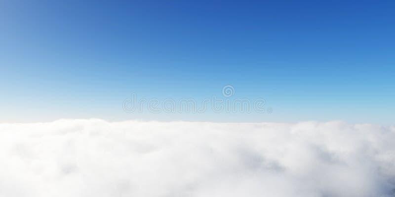 Les nuages 3D de ciel bleu rendent photographie stock libre de droits