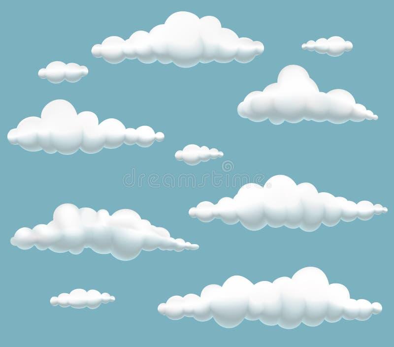 Les nuages de dessin anim ont plac illustration de - Nuages dessin ...