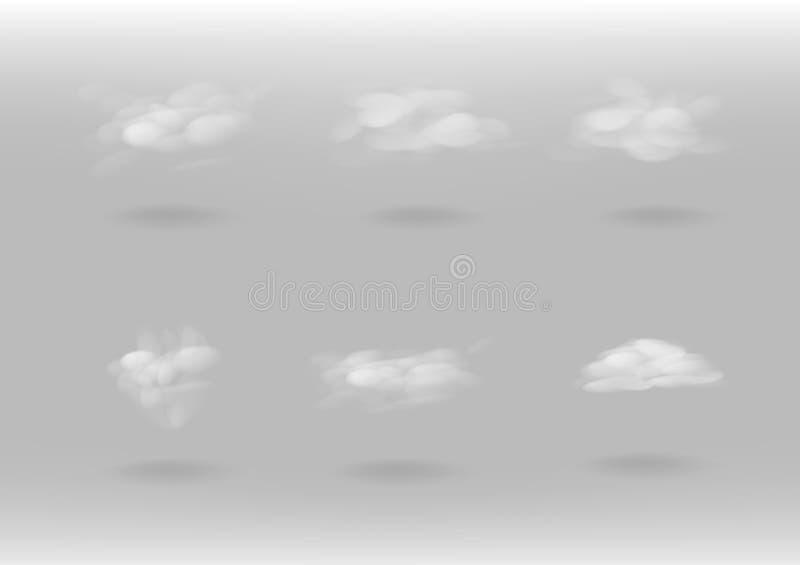 Les nuages et la fumée, place l'illustration de vecteur de collection illustration libre de droits