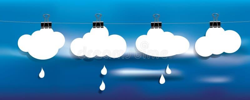 Les nuages pleuvoir sur la corde illustration libre de droits