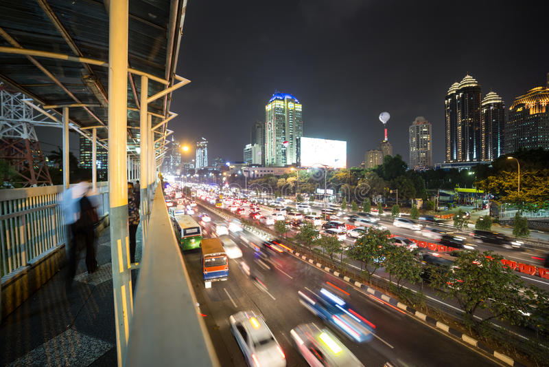 Les nuits de Jakarta photo stock