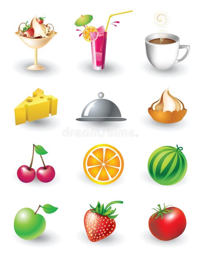 les objets de nourriture ont placé illustration de vecteur