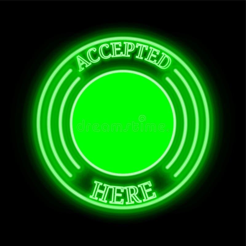 Les octets G-octet de Byteball admis ici signent illustration libre de droits