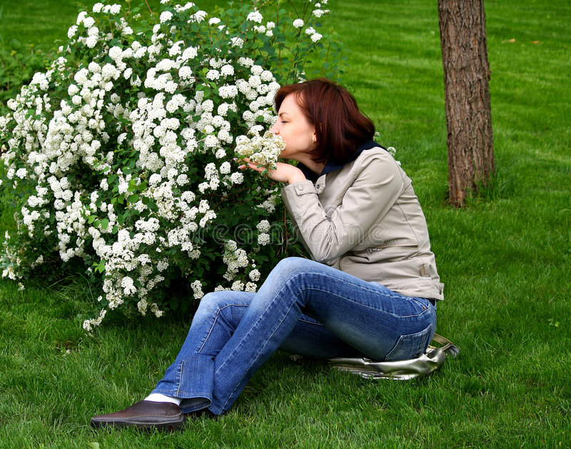 Les odeurs de fille photo libre de droits