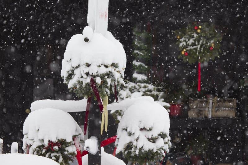 Les orages de Noël photographie stock